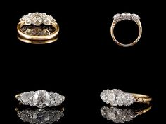 Gold and Diamond Trilogy Ring