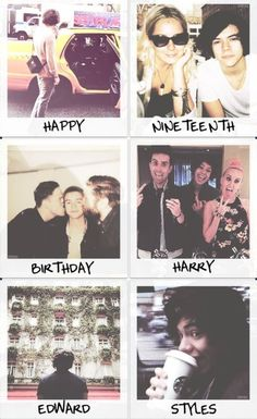 The one birthday edit I actually like. Cause it's pictures of him not parts of like 200 pictures to form the letter 19. I really dislike those. -E