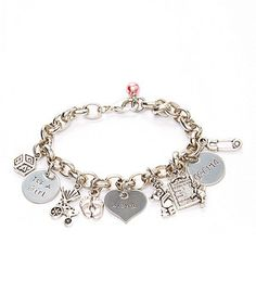 This Stainless Steel New Baby Girl Personalized Charm Bracelet by Pebbles Jones is perfect! #zulilyfinds