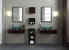 Pictures In Gallery BLOX Xylem Modern Wall Mounted Bathroom Vanity Set