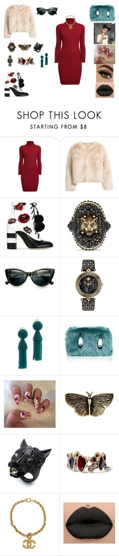 """&"" by ohbabyimrachel ❤ liked on Polyvore featuring Rumour London, GEDEBE, Gucci, Versace, Oscar de la Renta, Yves Saint Laurent, Alexis Bittar, Chloe + Isabel and Chanel"