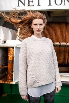 Aran Sweater Market - the home of Irish Aran sweaters. The Aran Sweater, also known as a Fisherman Irish Sweater, the famous original since quality authentic Aran sweater & Irish sweaters from the Aran Islands, Ireland. Oversized Sweater Outfit, Sweater Outfits, Oversized Sweaters, Thing 1, Layering Outfits, Outfit Combinations, Cotton Sweater, Cozy Sweaters, Pulls