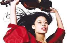 Former violin prodigy and now Olympic-level skier Vanessa Mae