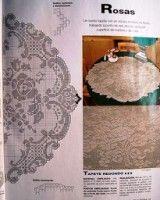 Kira crochet: Scheme no. Doily Patterns, Cross Stitch Patterns, Crochet Patterns, Cross Stitch Pillow, Cross Stitch Rose, Crochet Tablecloth, Crochet Doilies, Lace Stencil, Filet Crochet Charts
