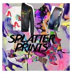 """""""My style of splatter prints"""" by lyndsey-lewis28 ❤ liked on Polyvore featuring WALL, Marc Jacobs, Vera Bradley, Philipp Plein, HOT SOX, Casetify, Zara Terez and MAC Cosmetics"""