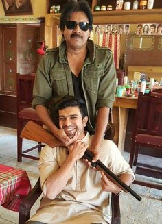 Dhruva with 'Katamarayudu'..  Power Star and Mega Power Star are the Main Pillars of Mega Family. With a very busy schedule of 'Dhruva' Ram Charan wised his Uncle Pawan Kalyan through Twitter with a Photo. The picture itself shows how close they are with each other. This photo going viral in Internet now and receiving  immense response from Mega Audiences.  #Pawankalyan #RamCharanTej