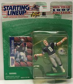 TAS040771 - 1996 Hasbro Starting Lineup NFL Dallas Cowboys - Troy Aikman