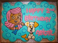 Bubble Guppies cupcake cake this is perfect!