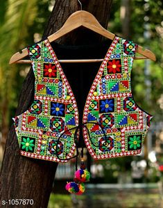 Ethnic Jackets & Shrugs Gorgeous Cotton Kutchi Work Ethnic Jacket  *Fabric* Cotton  *Sleeves* Sleeves Are Not Included  *Size* S- 36 in, M- 38 in, L- 40 in  *Length* Up To 22 in  *Type* Stitched  *Description* It Has 1 Piece Of Women's Ethnic Jacket  *Work* Kutchi Work  *Sizes Available* S, M, L *   Catalog Rating: ★4.1 (868)  Catalog Name: Hrishita Gorgeous Cotton Kutchi Work Ethnic Jackets Vol 6 CatalogID_129052 C74-SC1008 Code: 483-1057870-
