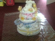 nappy / diaper cake unisex