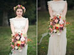 Go large with your bouquet. Bloomingayles Sussex wedding flowers. #2015trends #weddingtrends2015 #bouquet #peaches #pinks
