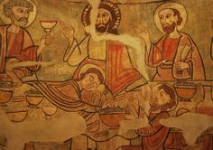 Епископальный музей в Вике.  Фреска из абсиды церкви в Сео-де-Уржель, или -Урхель.