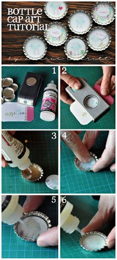 Bottle Cap Art Tutorial