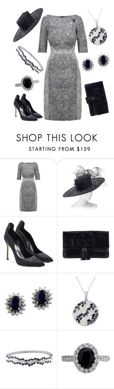 """Opening Museum Exhibit"" by nmccullough ❤ liked on Polyvore featuring Lela Rose, Rachel Trevor-Morgan, Sergio Rossi, Viktor & Rolf and Effy Jewelry"