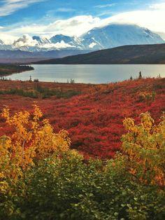 Wonder Lake, Denali National Park in Alaska.