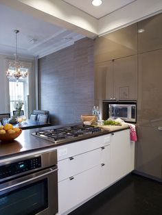 Contemporary Kitchens White Quartz Countertops And