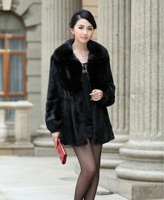 Real genuine long Mink Fur coat jacket garment clothing overcoat coats vest-in Fur & Faux Fur from Women's Clothing & Accessories on Aliexpress.com | Alibaba Group