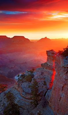 Glowing sunrise from Yaki Point on the South Rim of Grand Canyon National Park • Adam Schallau Photography on photoshelter