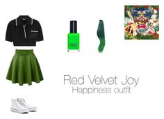 """""""Red Velvet Joy Outfit Inspired (KPOP)"""" by powercake on Polyvore featuring Miu Miu, Converse and FACE Stockholm"""