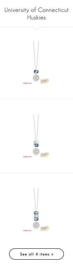 """""""University of Connecticut Huskies"""" by sparklelife ❤ liked on Polyvore featuring MANGO, Tory Burch, Aéropostale, Sperry, jewelry, necklaces, pendant necklace, sterling silver pendants, sparkle jewelry and zebra necklace"""