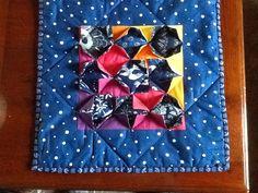 Boheems tuintje, ontwerp Lucie Huig. oefenblok met Boheemse blauwdruk. Gemaakt met instructie van Lucie Huig, zomer 2013 in Bologna en Angerlo