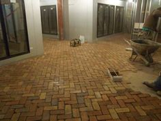 Brick Floor inside the Hop Shop Beer Market. State College, PA Brick installed by: Village Craft Iron & Stone, Inc