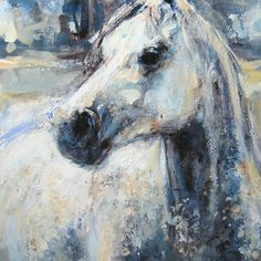 The Young Grey - Acrylic on canvas by Nina Smart