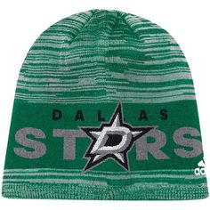 79244080b13 Dallas Stars adidas On Ice Knit Hat - Kelly Green  DallasStars Stars On Ice