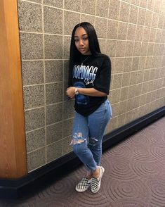 chill outfits, outfits for teens, lit outfits, high school outfits, Chill Outfits, Dope Outfits, Cute Casual Outfits, Fashion Outfits, Baddie Outfits Casual, Casual Jeans, Womens Fashion, Fashion Vest, Swag Fashion
