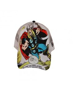1058f5cc New Era Avengers Thor Trucker Cap features a mesh back with adjustable  snap-back.