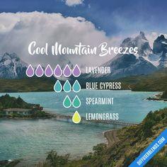 Cool Mountain Breezes - Essential Oil Diffuser Blend https://www.doterra.com/US/en/site/deborahprotheroe