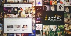 Download and review of Duotive Three - Complete WordPress Template, one of the best Themeforest Creatives themes