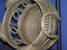 Corey Alston Gullah Sweetgrass Basket 3 by courtney Old Baskets, Woven Baskets, African Origins, African Traditions, Pine Needle Baskets, Fibre And Fabric, Pine Needles, Weaving Art, Pottery Bowls