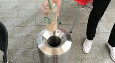 Watch this Starbucks cup dropping neatly into a trash bin. | The 29 Most Satisfying GIFs In The World
