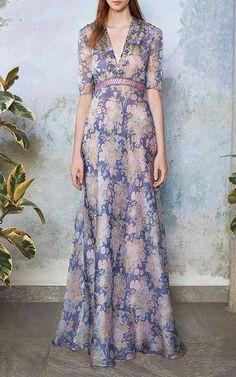 Luisa Beccaria Organdy Printed Dress