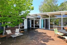 """3115 Sunset Ter, San Mateo, CA 94403 — Part of coveted """"Sunset Terrace Enclave"""", Architect Mogensen's 1950's """"Sunshine Living"""" homes; Awe-inspiring 19400SF flat lot; hidden courtyard entry; glass walls w/serene garden views at every turn, city lights; bay views; Light-filtering Clerestory windows; skylights; exposed beam ceilings; LR w/ fireplace; Large kitchen, breakfast area; generous DR; pantry/laundry; Master Suite; Jr. Suite; family rm, office, one car attached garage & carport…"""