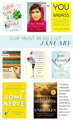 Our Must-Read List For January | theglitterguide.com