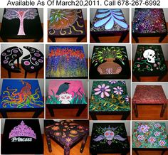 painted furniture ideas funky home decor hand painted coffee tablesnightstands all one