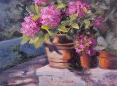 """Sunny Pienza"" oil painting by artist Pat Fiorello , available at: http://patfiorello.blogspot.com/2014/11/sunny-pienza.html"