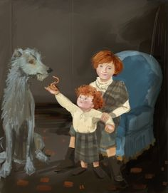Outlander lallybroch portraits jaime and william (art by girlfrog)