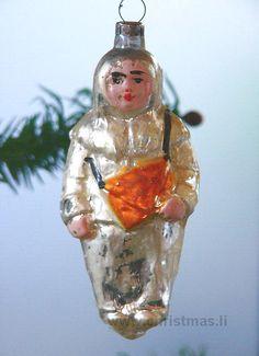 Antique Amalia Erhart Glass  Christmas Ornament