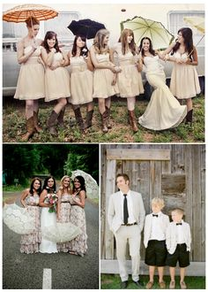 Such fun elements in these photos. I like the idea of a print for a bridesmaid's dress.