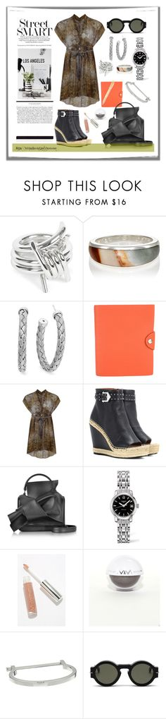 """Daily Look - Beautiful Printed Dress"" by virtudiaries ❤ liked on Polyvore featuring AMBUSH, Pamela Love, Roberto Coin, Hermès, Givenchy, N°21, Longines, Modern Minerals, MIANSAI and Mulberry"