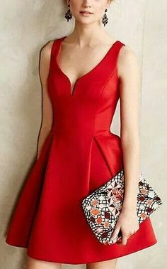 [Cute party dress.  I'd go with different colors on the purse, though.]