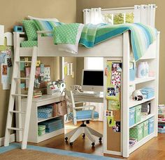 For very small spaces, don't know how I could do this with 2 kids per room.