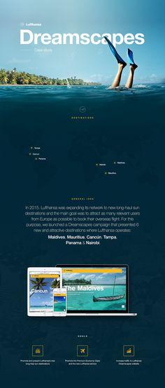 Lufthansa Dreamscapes Website - Case study on Web Design Served