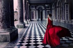 Red Dress in Paris