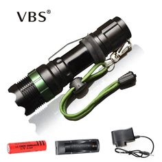 Flashlight CREE Q5 / XM-L T6 1000lm / 2000Lumens LED Torch Zoomable Cree LED Flashlight Torch light Recharger + 18650 //Price: $12.99//     #shop