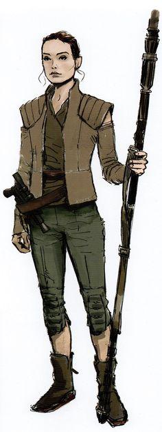 "melanaegis: """"Rey Concept Art The Art of Star Wars: The Force Awakens, Phil Szostak "" """
