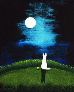 White+German+Shepherd+Dog+original+art+painting+by+by+ToddYoungArt,+$99.00